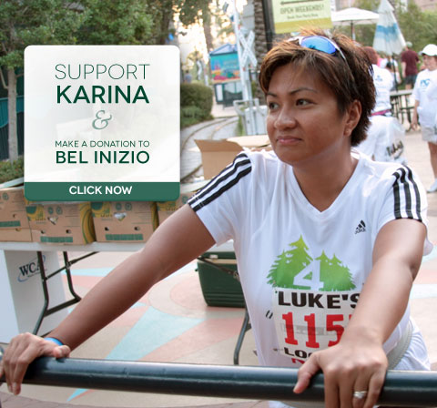 Support Karina and make a donation to Bel Inizio