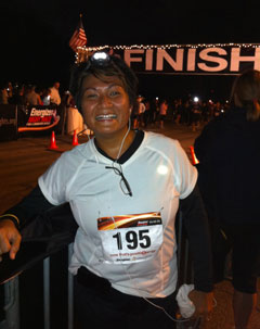 Karina at the Energizer/Million Lights Night Run