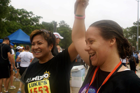 Karina and Misty at the finish line